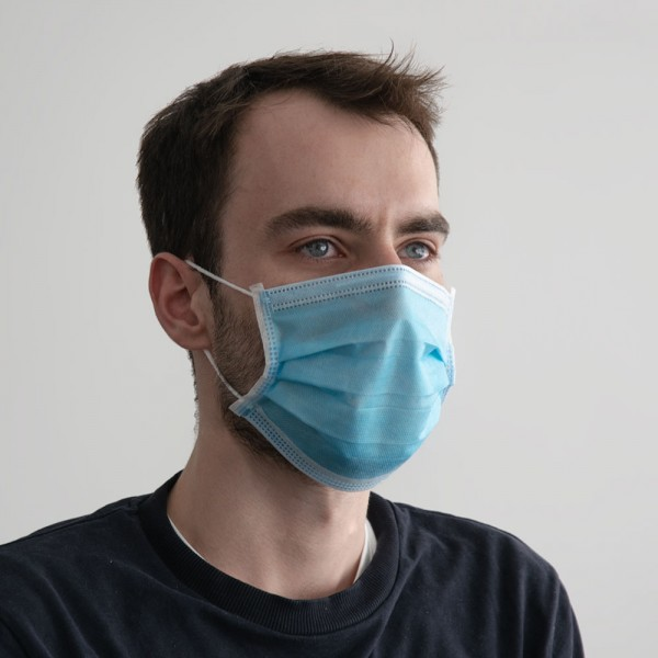 Masque facial, jetable 50 pièces