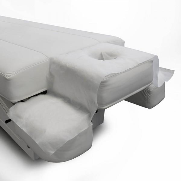 Serviettes avec ouverture pour le visage pour les tables de massage, 130 x 35 cm