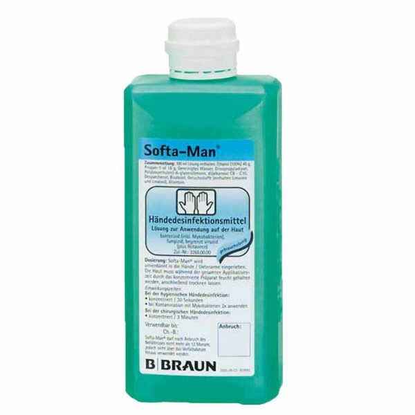 Softa Man ViscoRub brun pour la désinfection des mains 500ml