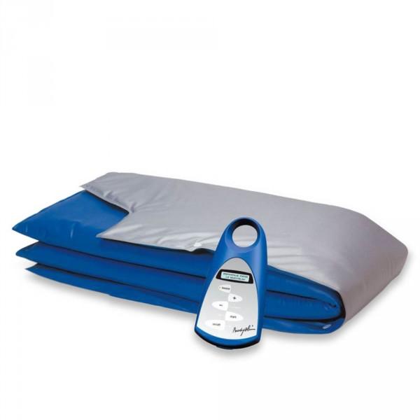 couverture chauffante 3 zones body slim bleu-argent