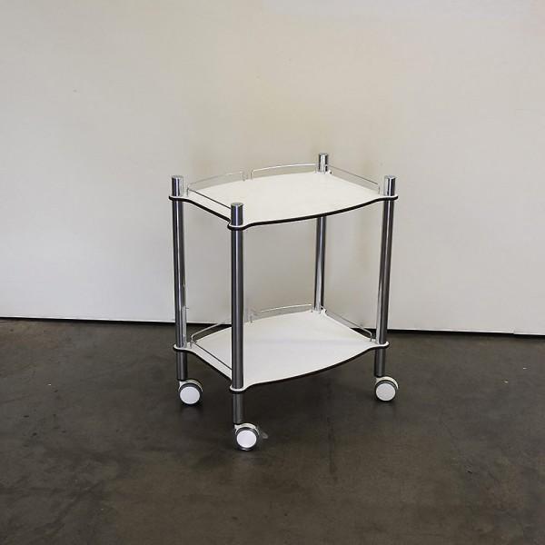 Gerätewagen Lamica 2-Fach, Weiß, Chrom, Ausstellungsstück DM3