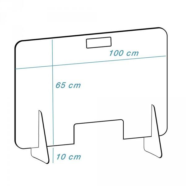 Disque en plexiglas 'mobile-haut', Transparente