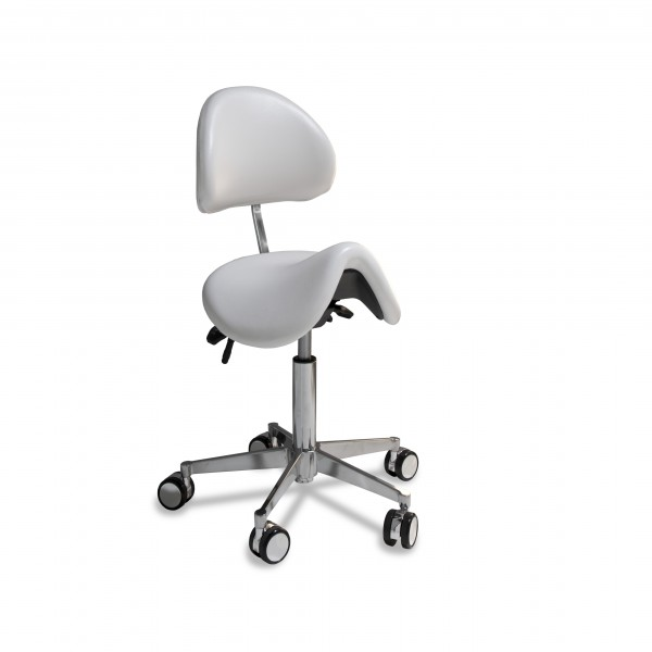 Chaise avec assise en forme de selle anatomique small