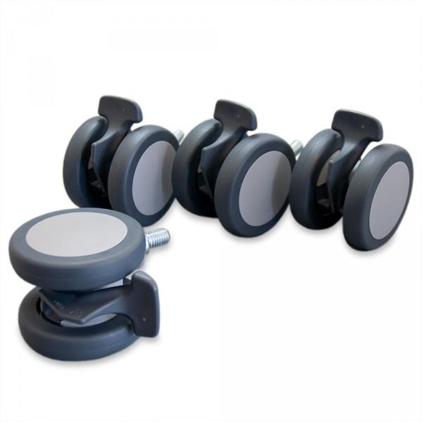 jeux de roulettes frainables pour fauteuils de soins Lina, SL & SPL