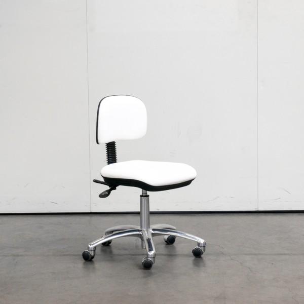 Stuhl Small ohne Armlehne Weiß, Chrom Ausstellugsstück H13