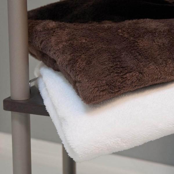 Couverture de luxe en microfibre, blanche, 150x200 cm
