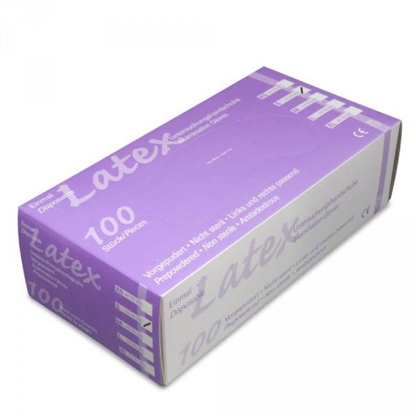gants latex, légèrement poudrés, taille S, 100 pièces