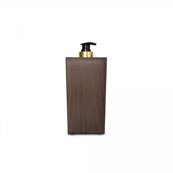 Réchaud carré pour flacons d'huile, optique en bois, brun foncé