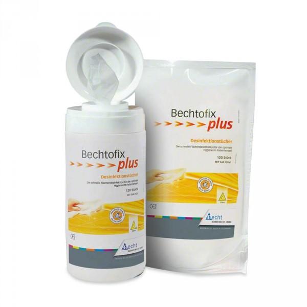 Bechtofix plus, 100 mouchoirs désinfectants + boite