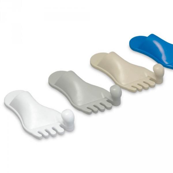Crochet en forme de pied pour serviettes
