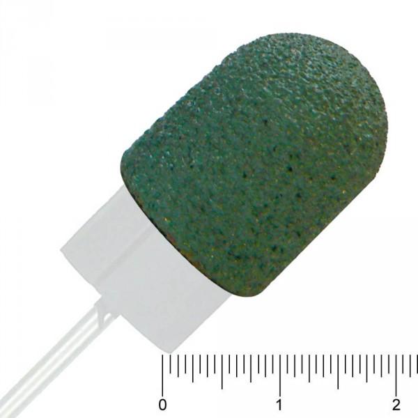 10 ponceuses capuchon vert interchangeable, Ø 13 mm, grainage gros