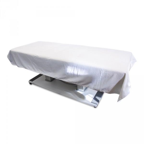Serviette en velour 150 x 230 cm, blanche