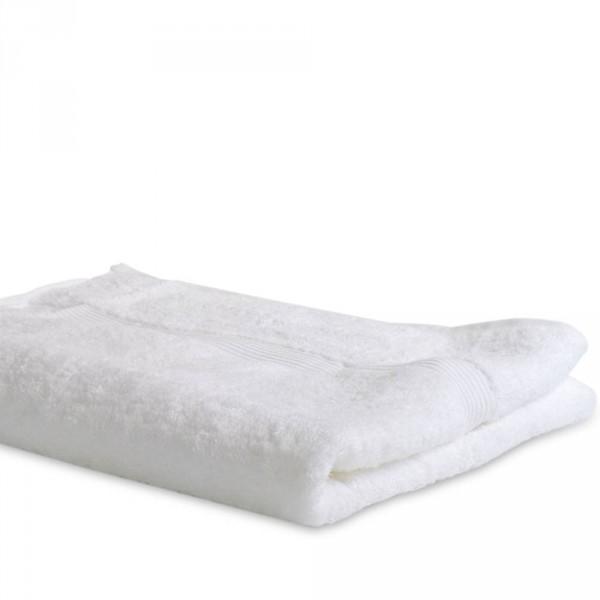 Serviette de bain, tissus éponge, blanc, 100 x 150 cm
