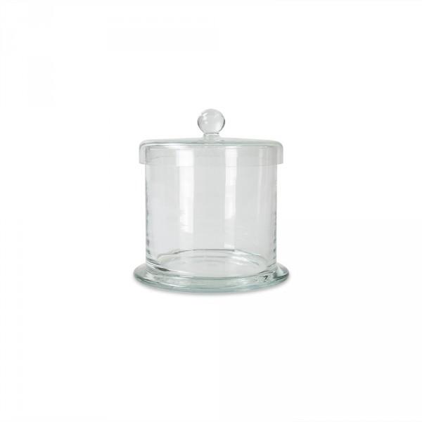 Pot à ouate en verre, 120mm x 120 mm