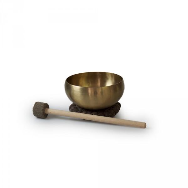 Petit bol chantant , env. 16 cm avec soucoupe en feutre et maillet inclus