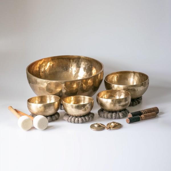 Ensemble de bols chantants Vibra-Healing composé de: